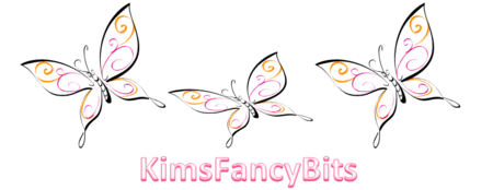 butterfly logo for Kims Fancy Bits website